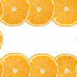 Frame of orange slices  — Stock Photo