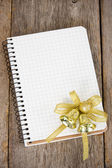 Notebook with christmas decoration — Stock Photo