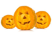 Three Halloween pumpkins — Stock Photo