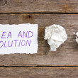 Idea and solution — Stock Photo