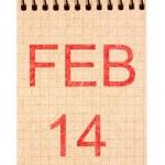 14 February calendar — Stock Photo