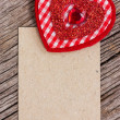 Red heart and paper piece — Stock Photo