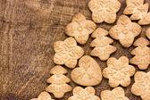 Homemade various gingerbread cookies — Stock Photo
