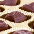 Chocolate pralines in the box — Stock Photo #38301627
