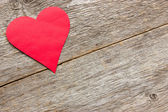 Red paper cut out heart — Stock Photo