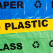 Plastic bags for recyclable garbage — Stock Photo #38715765