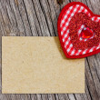 Paper piece and red heart — Stock Photo