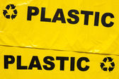 Garbage bags for recyclable plastic — Foto de Stock