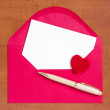 Love letter with space for your own text — Stock Photo