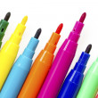 Stock Photo: Multi colored felt tip pens