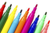 Multi colored felt tip pens — Stock Photo