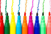 Various color felt-tip pens — Stock Photo