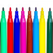 Felt tip pens isolated — Stock Photo