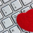 Computer keyboard with heart — Stock Photo