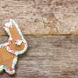 Homemade gingerbread bunny — Stock Photo