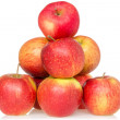 Pyramid of red apples — Stock Photo