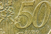 Close up fifty euro cents  — Stock Photo