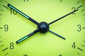 Green clock face  — Foto Stock