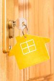 House icon on key — Foto de Stock