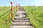 Staircase on a small hill — Stock Photo