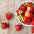 Red strawberry in a bowl  — Stock Photo #47839047