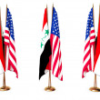 Flags of Iraq and the USA — Stock Photo #1428720