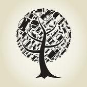 Tree car — Stock Vector