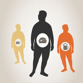 Fat man — Stock Vector