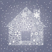 Snowflake the house — Stock Vector