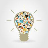 Art a bulb — Stock Vector