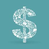 Business dollar — Stock Vector