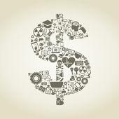 Dólar de ciencia — Vector de stock