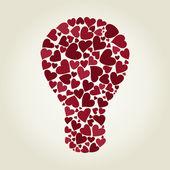 żarówka serca — Wektor stockowy