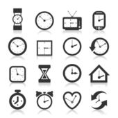 Hours an icon — Stock Vector