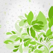 Plant music — Stock Vector