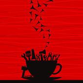 Book cup — Stock Vector