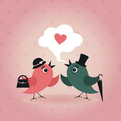 Bird of love — Vector de stock