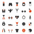 Fitness an icon - Stock Vector