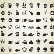 Meal icons - Image vectorielle