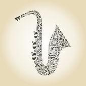 Saxophone — Stock Vector
