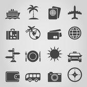 Travel an icon — Stock Vector