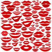 Lips as background — Stock Vector