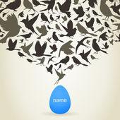 Ptáci z vajec — Stock vektor