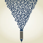 Dopis tužka — Stock vektor