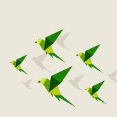 Ptačí abstrakce — Stock vektor