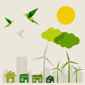 Ecology a city — Stock Vector