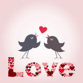 Bird of love — Stock Vector