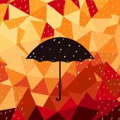 Autumn rain — Stock Vector