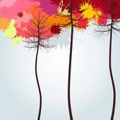 Autumn wood — Stock Vector