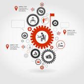 Business gear wheel — Stock Vector